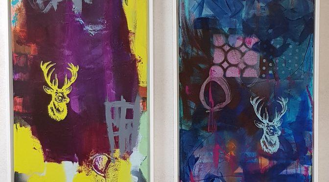 """Workshop """"Magie der Farbe"""", 40 x 120 cm Leinwand"""
