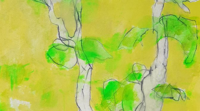 Abendkurs Acrylmalen Online – Bäume leicht